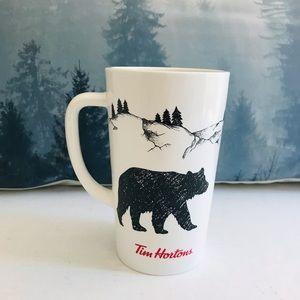🌀Tim Hortons Black Bear Ceramic Mug